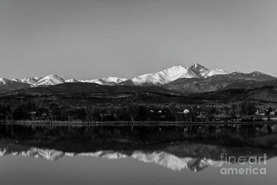 Longs Peak In The Mirror Original by Jon Burch Photography