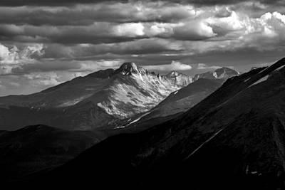 Photograph - Longs Peak by Robert Meyers-Lussier
