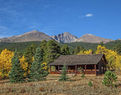 Photograph - Long's Peak by Ronald Lutz