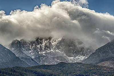 Photograph - Longs Peak Snowstorm by Susan Rissi Tregoning