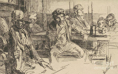 Pen And Ink Drawing Drawing - Longshoreman, 1859 by James Abbott McNeill Whistler