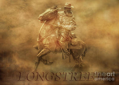 Digital Art - Longstreet At Gettysburg Two by Randy Steele