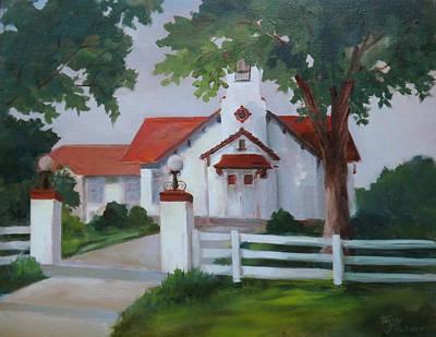 Wedding Chapel Painting - Longview Chapel by Teddy Jackson