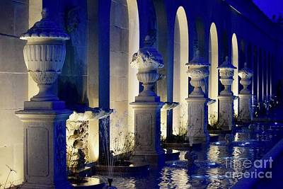 Photograph - Beautiful Evening Fountains by Jeannie Rhode