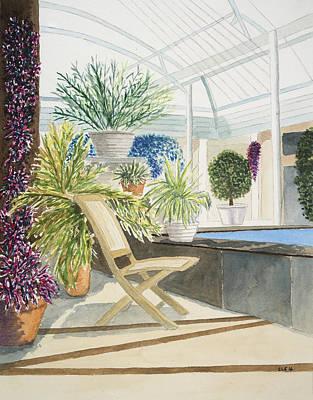 Longwood Gardens Painting - Longwood Gardens - Reflect by Cynthia Schoeppel