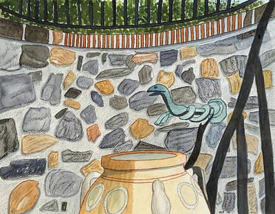 Longwood Gardens Painting - Longwood Gardens - Refresh by Cynthia Schoeppel