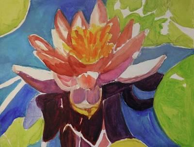 Longwood Gardens Painting - Longwood Water Lily Mauve by Janice Baumann