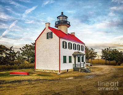Photograph - Lonly Evening At East Point  Light by Nick Zelinsky