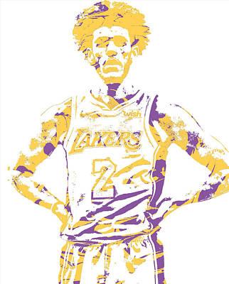 Mixed Media - Lonzo Ball Los Angeles Lakers Pixel Art 3 by Joe Hamilton