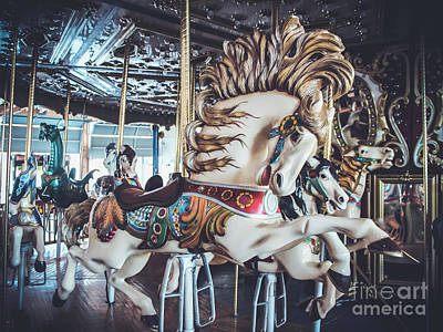 Photograph - Looff Stallion - Carousel by Colleen Kammerer