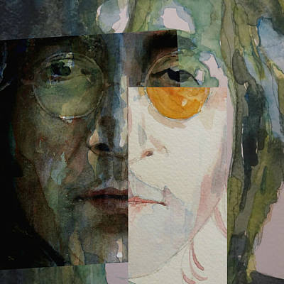 John Lennon Wall Art - Painting - Look @ Me by Paul Lovering