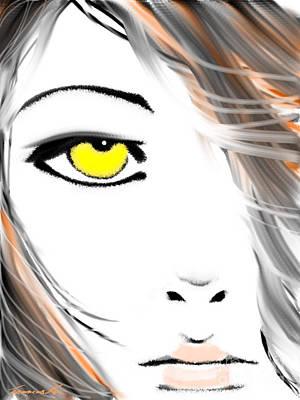 Digital Art - Look At Me by Frances Ku