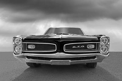 Photograph - Look At Me - Gto Black And White by Gill Billington