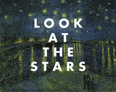 Coldplay Wall Art - Digital Art - Look At The Stars Print by Georgia Fowler
