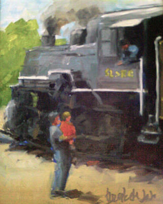 Look At The Train Art Print