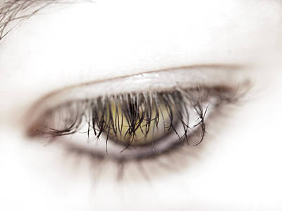 Eyelash Photograph - Look Away by Kelly Jade King