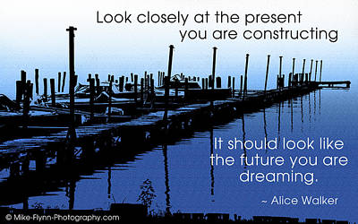 Look Closely At The Present Art Print