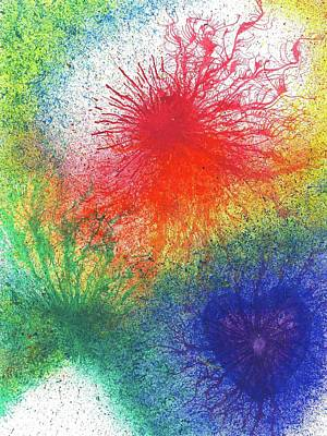 Chakra Rainbow Painting - Look For The Rainbow When It Rains #441 by Rainbow Artist Orlando L aka Kevin Orlando Lau