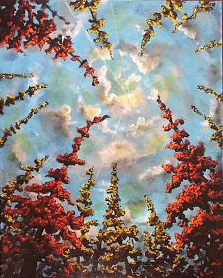 Painting - Look Through The Trees by Joel Tesch