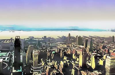 Digital Art - Look To The River New York by Dorothy Berry-Lound