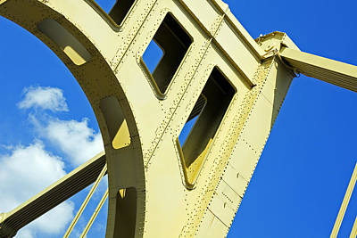 Look Up Pittsburgh Pa Art Print by Kristen Vota