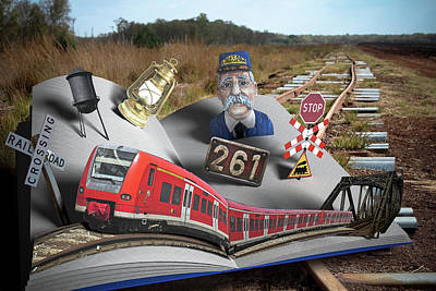 Page Bridge Digital Art - Look What Popped Up On The Tracks by Randy Turnbow