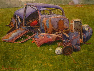 Painting - Look What They Done To My Car Ma by Terry Perham