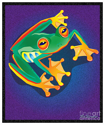 Frogs Digital Art - Lookin At You by Nick Gustafson