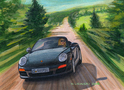 Cabriolet Painting - Lookin Good by Norb Lisinski
