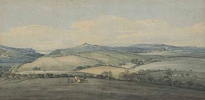 Vale Painting - looking across Marshwood Vale by Thomas Girtin