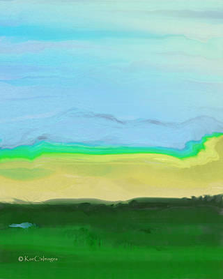 Digital Art - Looking Across The Valley by Kae Cheatham