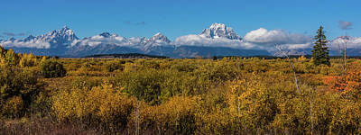 Photograph - Looking Across Willow Flats To Mt Moran by Yeates Photography