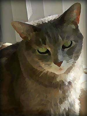 Cats Wall Art - Digital Art - Looking Angelic by Raven Hannah