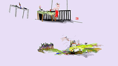 Digital Art - Looking At Italy Another View by Debbi Saccomanno Chan