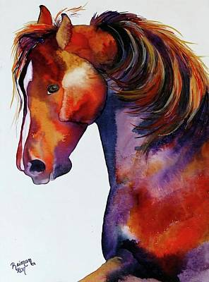 Morgan Horse Painting - Looking At You by Kathleen Reiman