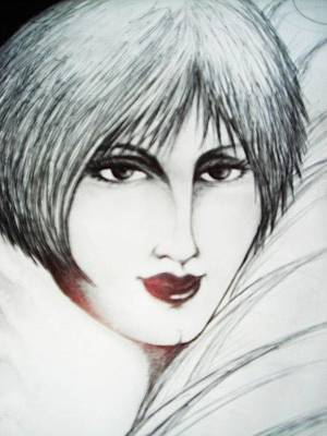 Drawing - Looking At You  by Rae Chichilnitsky