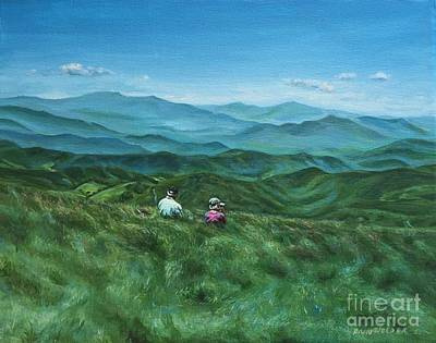 Ann Holder Painting - Looking Back by Ann Holder