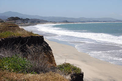 Looking Back At Half Moon Bay From The North Art Print by Carolyn Donnell