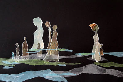Doubting Mixed Media - Looking Back At The Past by Jolly Van der Velden