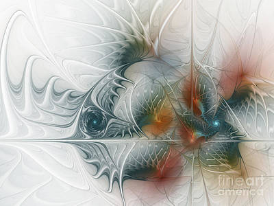 Abstractions Digital Art - Looking Back by Karin Kuhlmann