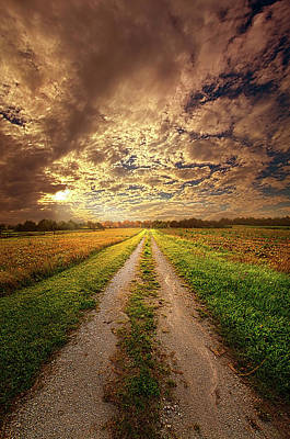 Country Dirt Roads Photograph - Looking Back On The Memory Of by Phil Koch