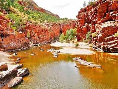 Photograph - Looking Back- Ormiston Gorge by Lexa Harpell