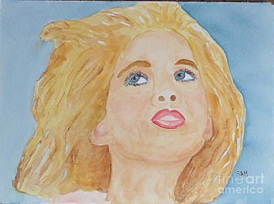 Art Print featuring the painting Looking Back by Sandy McIntire