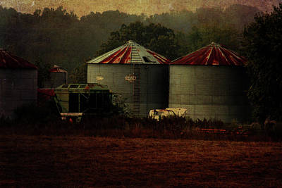Photograph - Looking Back Silos by Lesa Fine