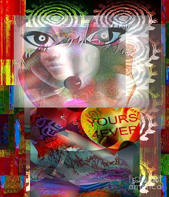 Yesayah Mixed Media - Looking Deep In Your Eyes by Fania Simon