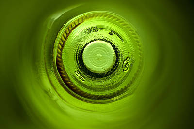 Wine Bottle Wall Art Photograph - Looking Deep Into The Bottle by Frank Tschakert