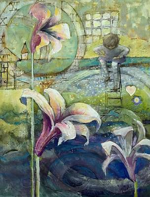 Lilies Mixed Media - Looking Deeper by Eleatta Diver