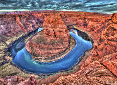 Photograph - Looking Down 2 Horseshoe Bend Grand Canyon National Park Art by Reid Callaway
