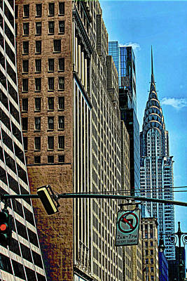 Photograph - Looking Down 42nd Street by Allen Beatty