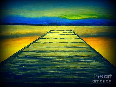 Most Popular Painting - Looking Down A  Wooden Pier  by Irving Starr